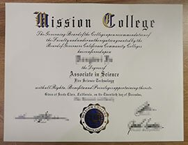 Mission College diploma.