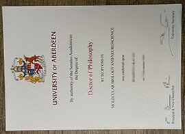 Where to buy a fake  University of Aberdeen diploma?
