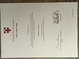 King's College London diploma.